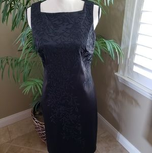 CDC Black Embellished Sheath Cocktail Dress